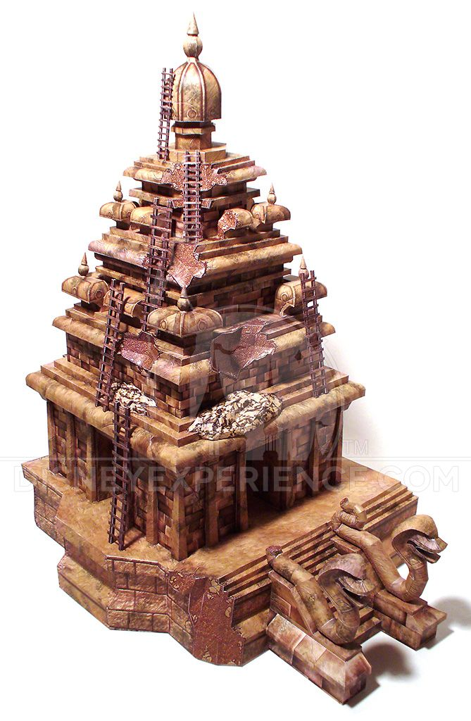 temple of the forbidden eye paper model